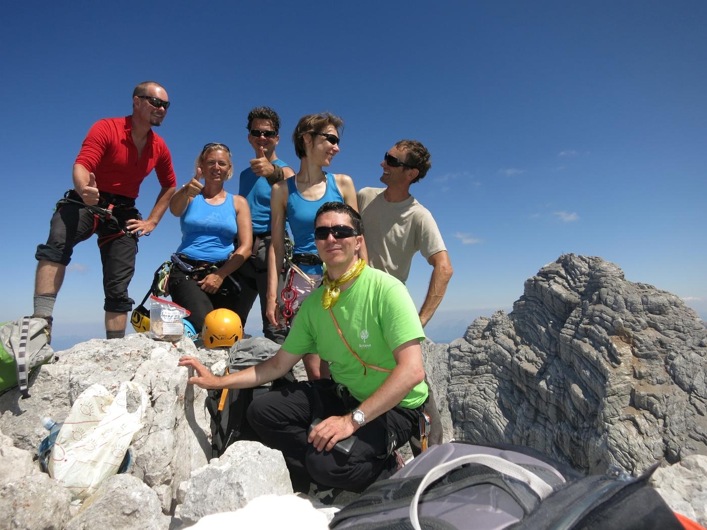 Plaisirklettern überm Dachsteingletscher