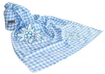 Hüttenschlafsack blau kariert
