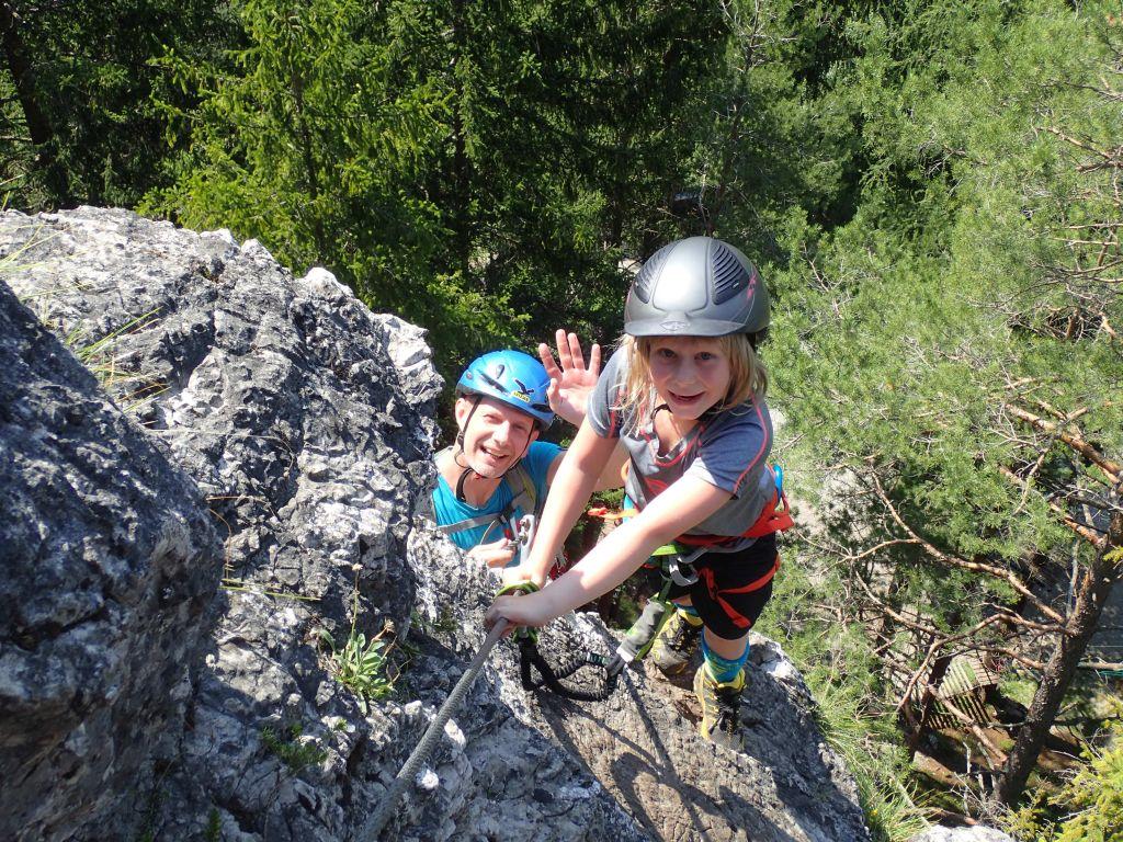 Familie am Fels (Klettersteig&Klettern)