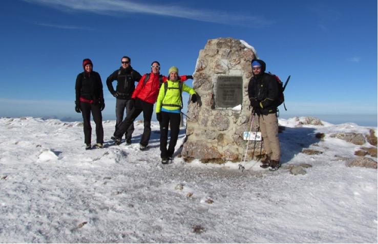 Mit Pickel&Steigeisen auf den Schneeberg