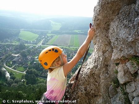 Familie am Fels (Klettersteig & Klettern)
