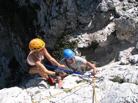 Sportklettern in den Dolomiten