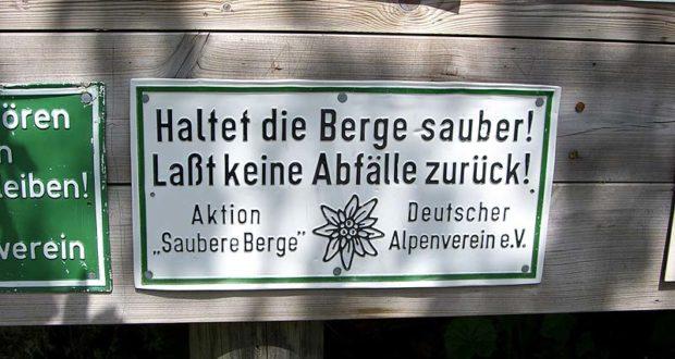 Umfrage zum Thema Alpen Littering - Bitte um Unterstützung!