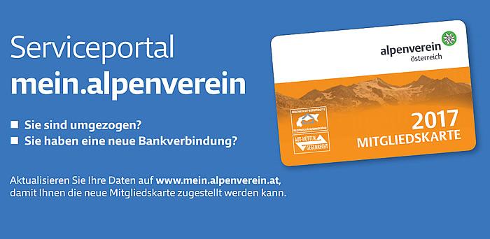 Serviceportal: Adressänderung/Bankverbindung