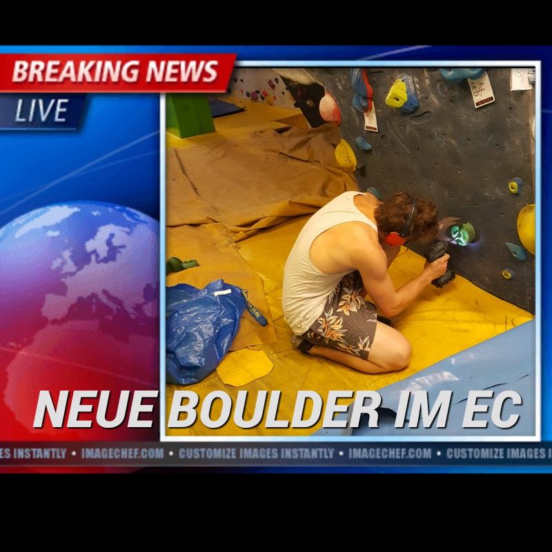Neue Boulder im EC