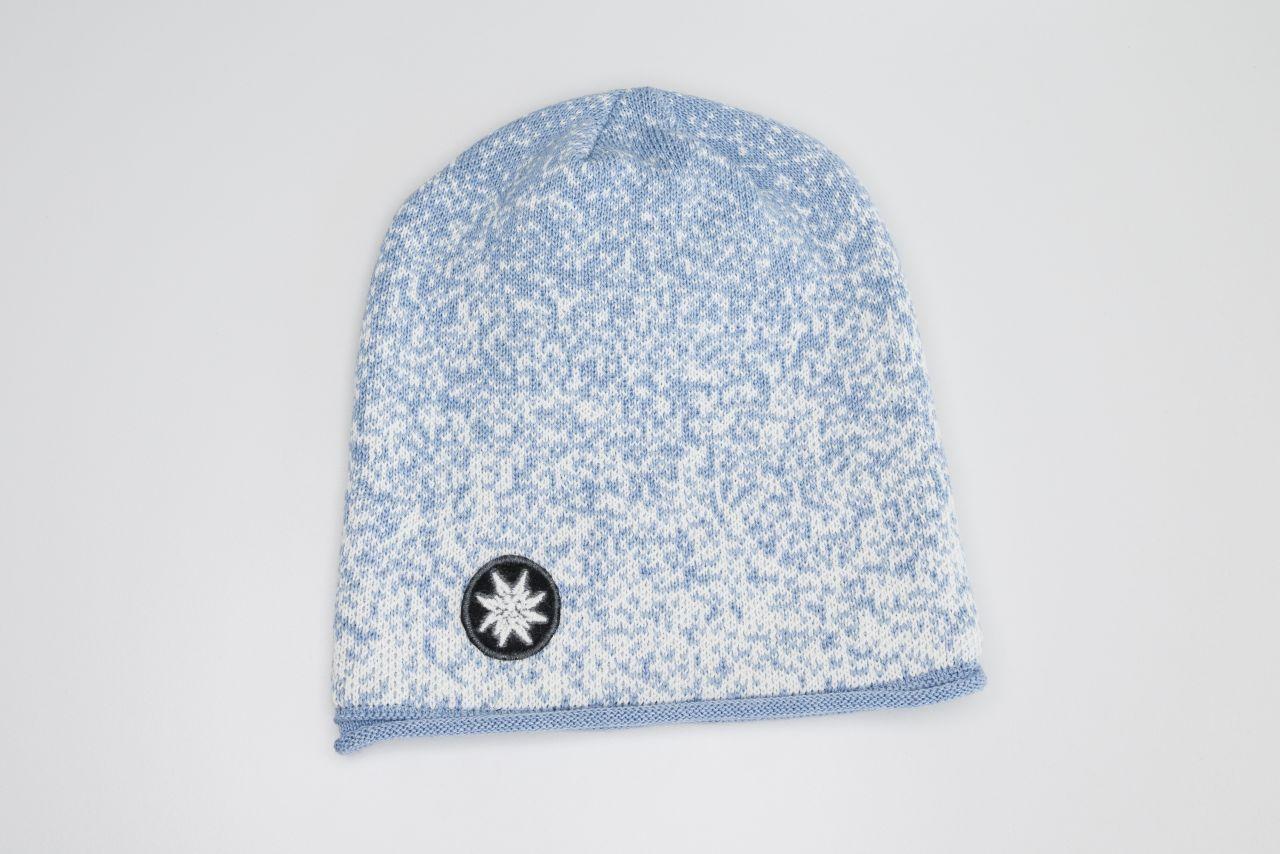 Strickmütze hellblau - NEU