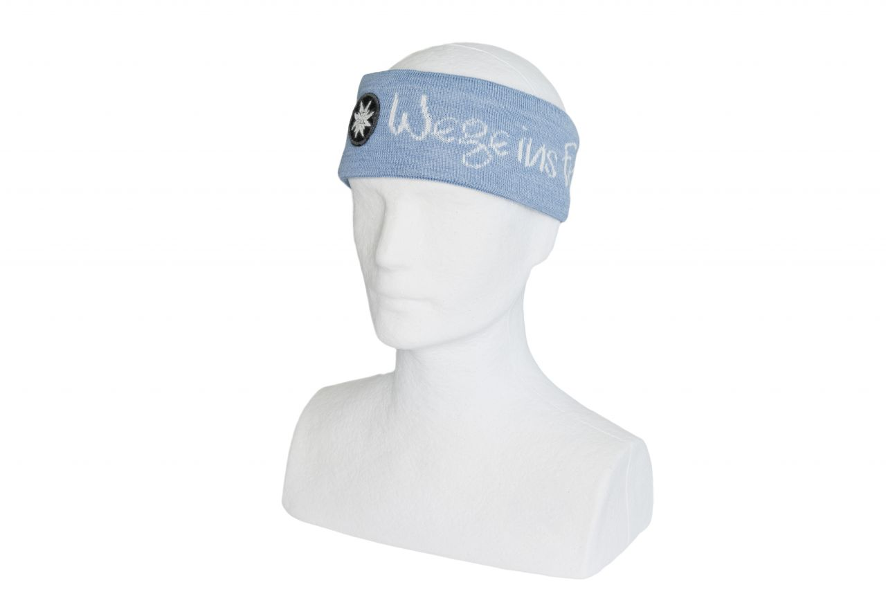 Stirnband Strick hellblau - NEU
