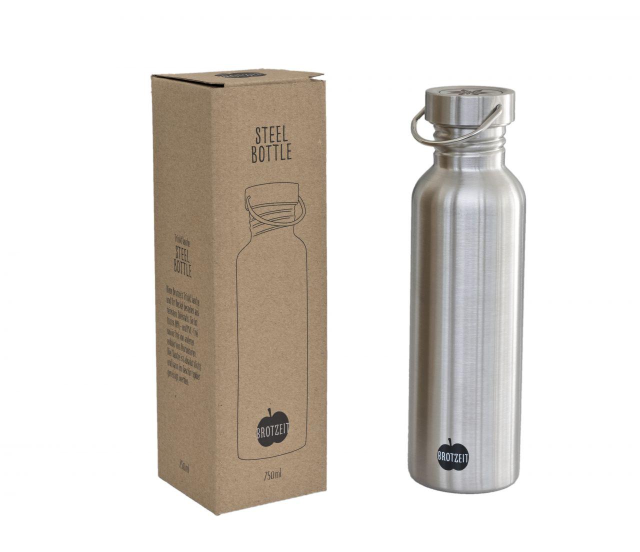 Trinkflasche Edelstahl | Brotzeit