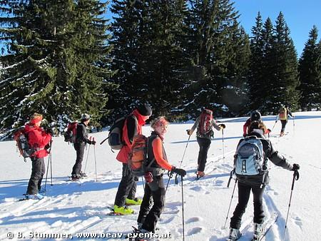 Gelände mit Freude für Skifahrer:
