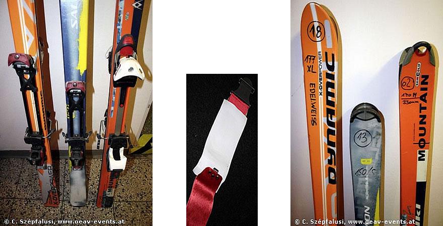 Set: Ski + Felle + Harscheisen
