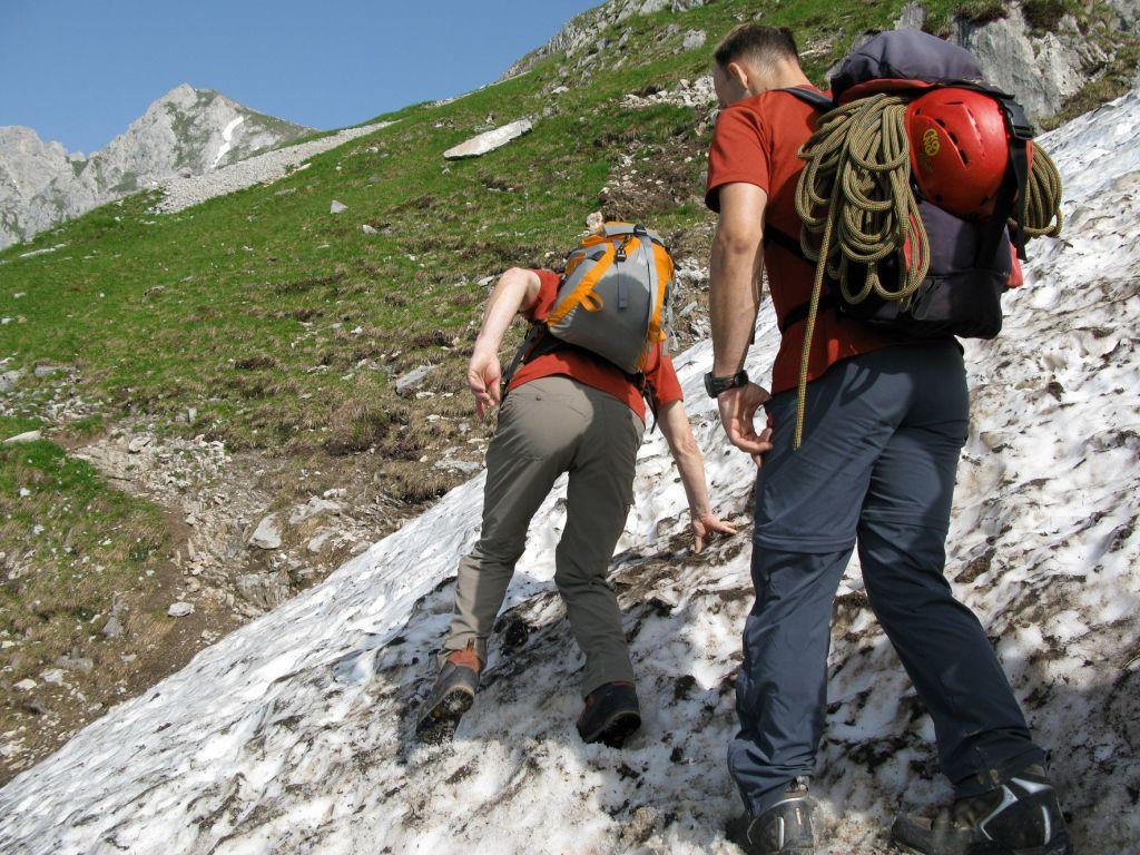 Altschneefelder im Sommer