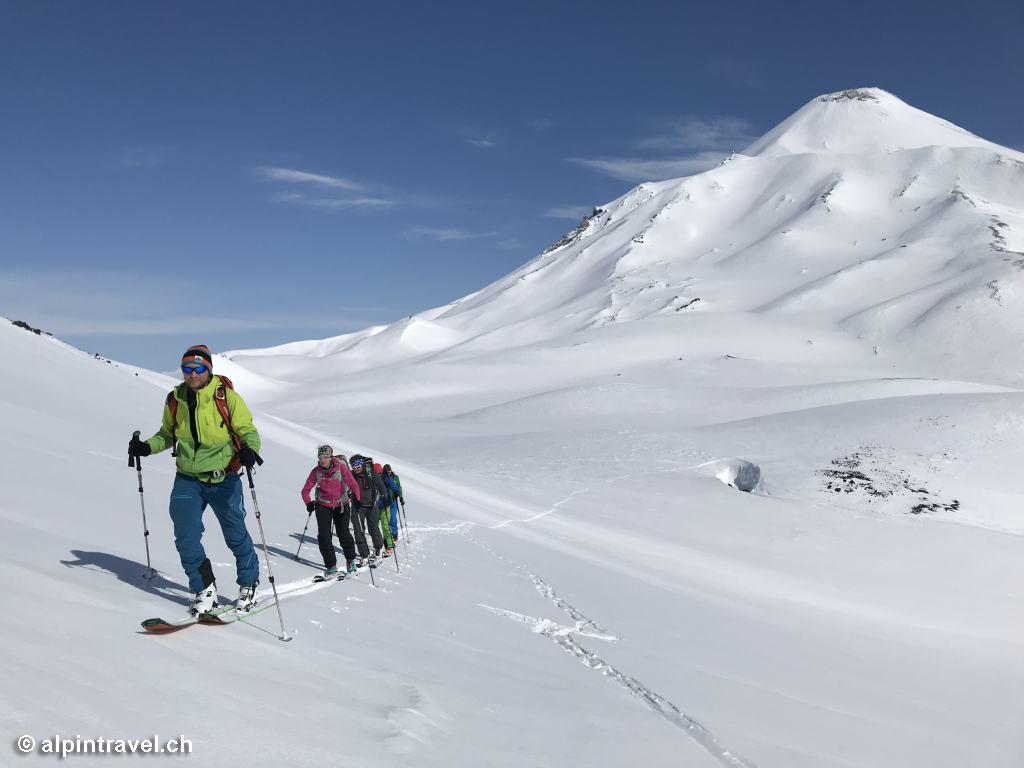 Vulkan-Skitouren auf Kamtschatka