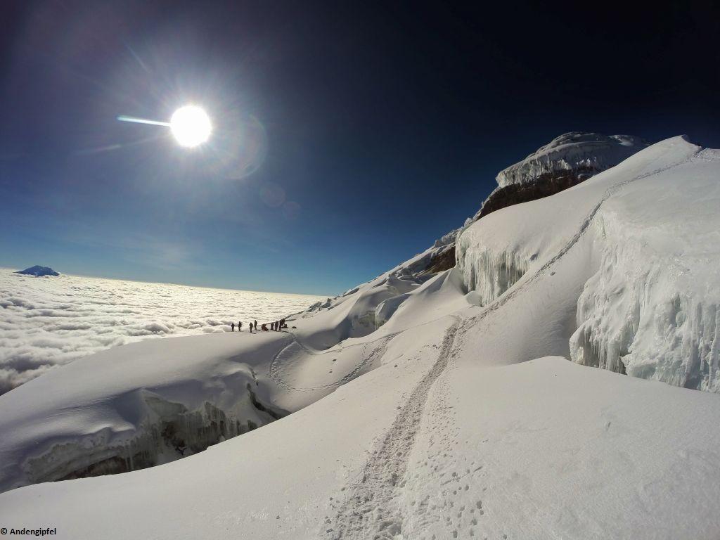 Cotopaxi 5.897 m und Chimborazo 6.310 m