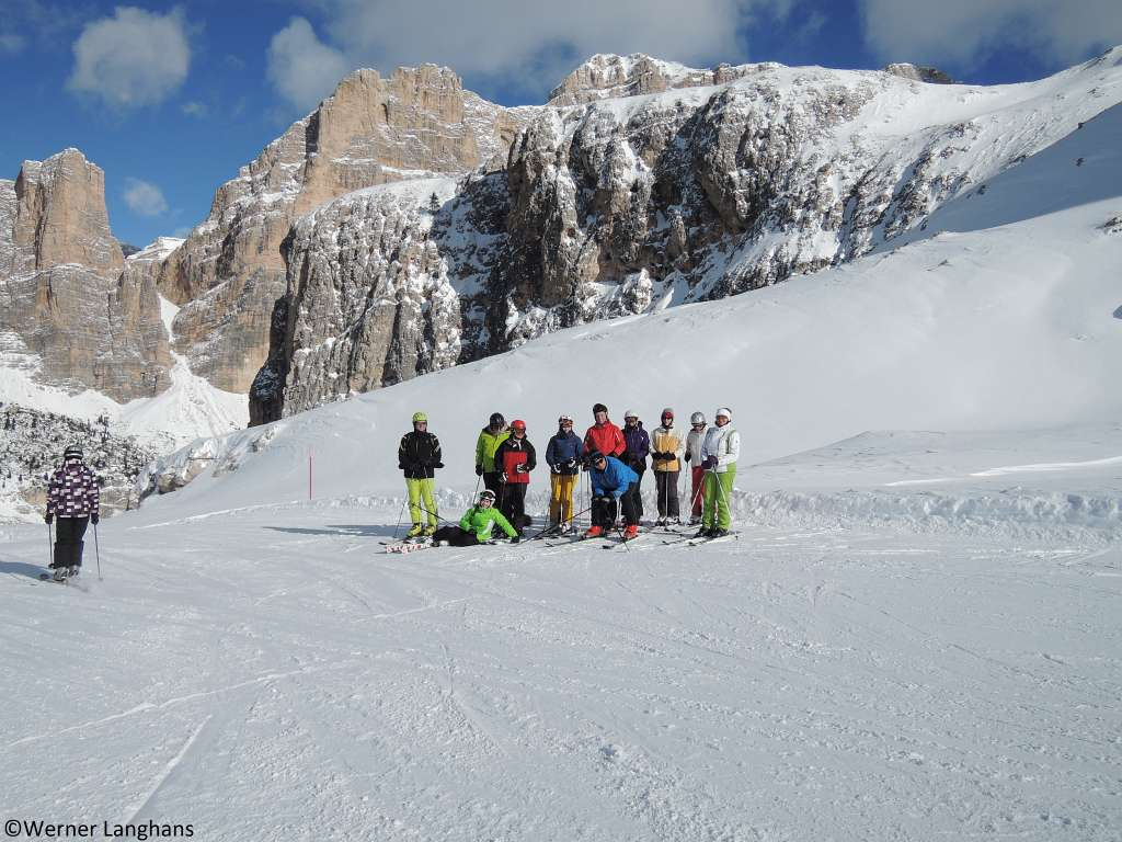 Wintersafari im Skiparadies Dolomiten