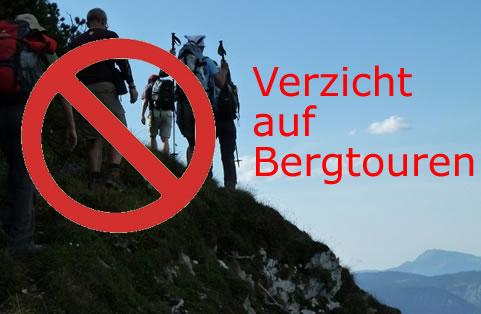 Alpenverein appelliert<BR>Verzicht auf Touren